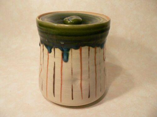Japanese Oribe Mizusashi Jar for Tea Ceremony