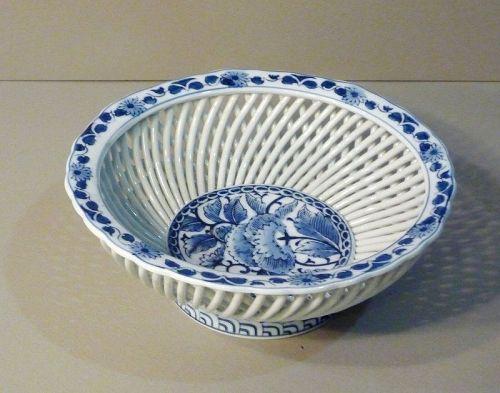 Japanese Arita Porcelain Weaving Style BOWL