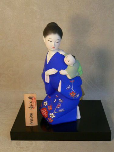 Beautiful Japanese HAKATA Doll Mother and Son Collectible