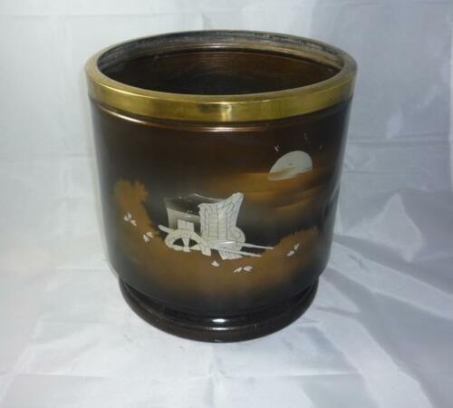 Japanese Vintage Hibachi Tin Made Handwarmer