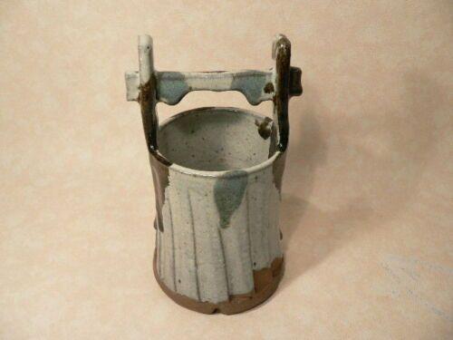 Japanese Shigaraki Pottery Ceramic Vase Bucket Style