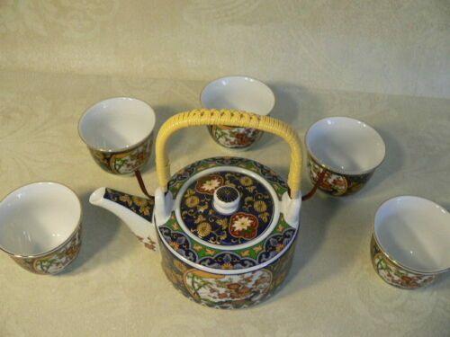 Japanese Tea Set - Floral Design SETO Yaki