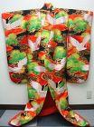 Japanese Uchikake Wedding Gown Colorful Embroidered