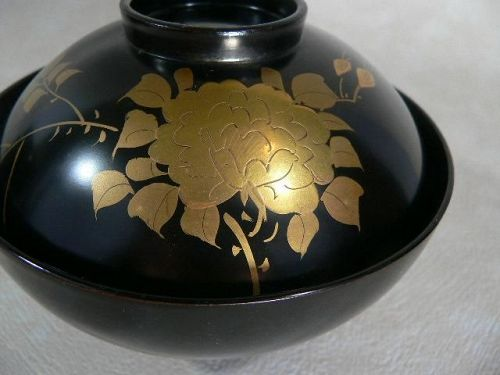 Japanese Lacquerware Ware Soup Cup/ Rice Bowl