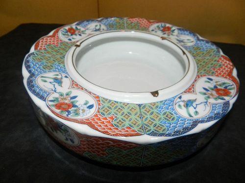 Japanese Haizara- Ashtray Large Kyoto Porcelain Contemporary