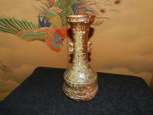 Japanese Shigaraki Stoneware for Home Decor or Vase
