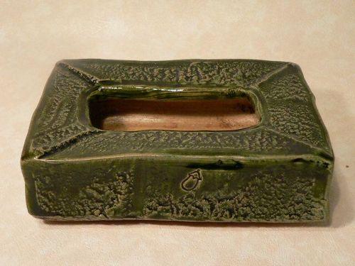 Japanese Contemporary Ikebana Vase Oribe Tissue Box Style