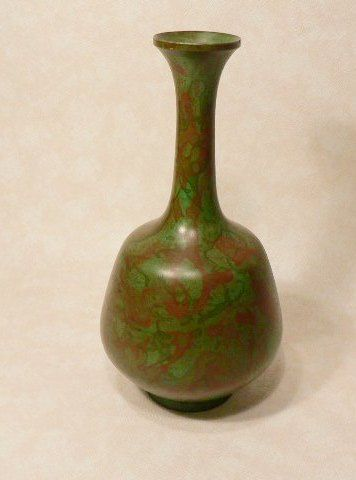 Vintage Japanese Bronze Vase Flower Arrangement