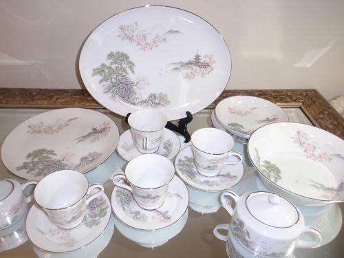 Zeisan Set Rare Japanese Dinner Set Porcelain Contemporary