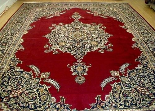 Magnificent PERSIAN Rug Antique Collectible Rug