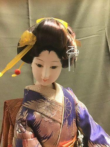 Adorable Japanese GEISHA Gofun Doll Vintage Kyoto