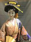 "Japanese Geisha Doll Ningyo 17"" Gofun Vintage"