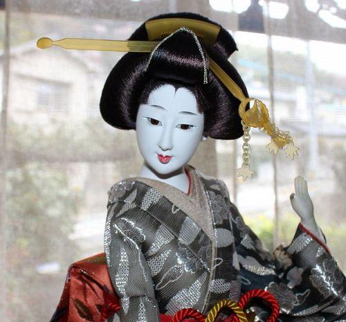 "Loveliest Japanese Geisha Doll Rare Tall Kyoto Doll Gofun 21"""