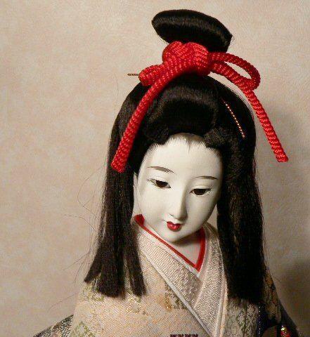"Elegant Japanese Geisha Doll Gofun Vintage 17"""