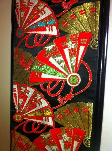 Japanese Vintage OBI Hanhaba Obi Sensu Silk Colorful
