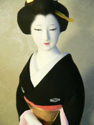 Japanese Geisha Hakata Doll Fukuoka Furisode Kimono Crane