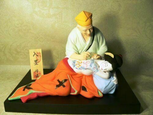 RARE Japanese Hakata Doll Tattoo Artist Geisha Woman Collectible Doll