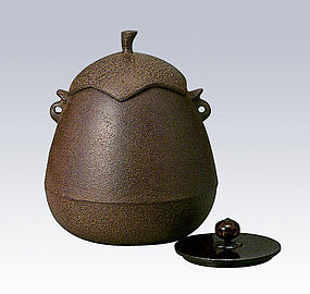 ZEN Japanese Tea Ceremony Eggplant Kettle Chagama