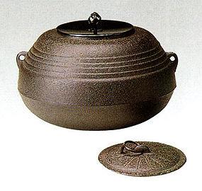 Japanese Zen Tea Ceremony Iron Tang Hisago Chagama