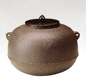 ZEN Japanese Tea Ceremony Zimon Larix Kettle Chagama
