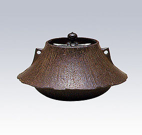Japanese Zen Tea Ceremony Cast Iron Fugi Zimon Chagama