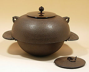 Japanese Zen Tea Ceremony Cast Iron back armor Chagama