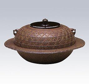 Japanese Zen Tea Ceremony Cast Iron Sakuragawa Chagama