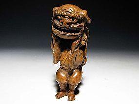 Edo Period Japanese Sagemono Ivory Zoge Netsuke #2