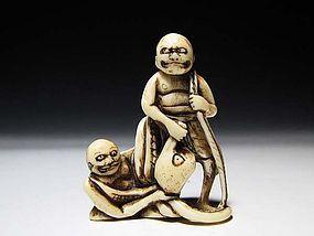 Edo Period Japanese Sagemono Ivory Zoge Netsuke #3