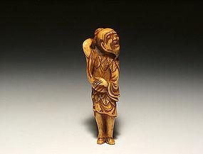 Edo Period Japanese Sagemono Ivory Zoge Netsuke #4