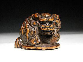 Edo Period Japanese Sagemono Ivory Zoge Netsuke #5