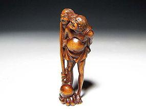 Edo Period Japanese Sagemono Ivory Zoge Netsuke #9