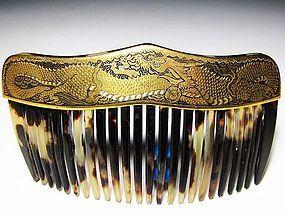Meiji Period Japanese Geisha Hair Comb Accessory #2