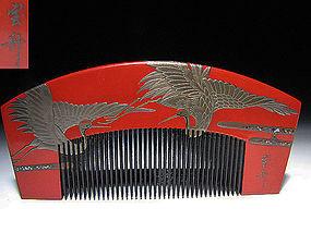 EDO Period Japanese Geisha Hair Comb Accessory #2