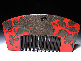 EDO Period Japanese Geisha Hair Comb Accessory #3