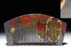 Meiji Period Japanese Geisha Hair Comb Accessory #4