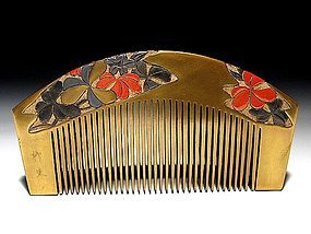 Meiji Period Japanese Geisha Hair Comb Accessory #5