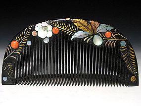 Meiji Period Japanese Geisha Hair Comb Accessory #6