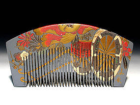 Meiji Period Japanese Geisha Hair Comb Accessory #7