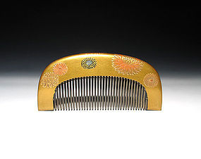 Meiji Period Japanese Geisha Hair Comb Accessory #9