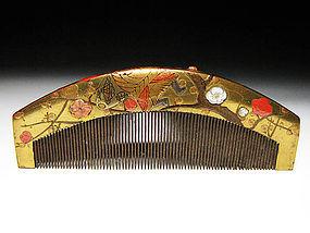 Meiji Period Japanese Geisha Hair Comb Accessory #10