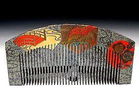 Meiji Period Japanese Geisha Hair Comb Accessory #13