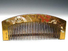 Meiji Period Japanese Geisha Hair Comb Accessory #15