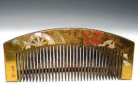 Meiji Period Japanese Geisha Hair Comb Accessory #17