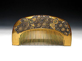 Meiji Period Japanese Geisha Hair Comb Accessory #18