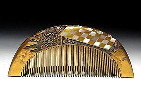 Meiji Period Japanese Geisha Hair Comb Accessory #19