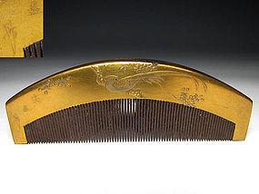 Meiji Period Japanese Geisha Hair Comb Accessory #21
