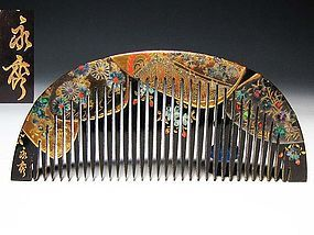 Meiji Period Japanese Geisha Hair Comb Accessory #22
