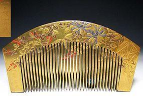 Meiji Period Japanese Geisha Hair Comb Accessory #23