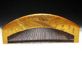 Meiji Period Japanese Geisha Hair Comb Accessory #28